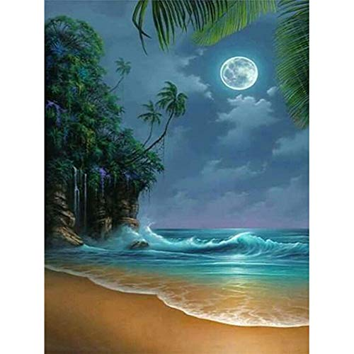 ATggqr Puzzle 1000 Pcs 50x75cm Landscape moon Jigsaw Puzzle Home Games Large Size Games and Toys for Family, Friends, Grown UPs, Childrens