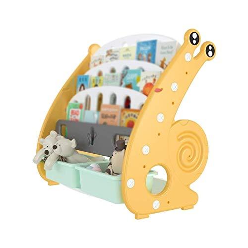 Boekenplank Kinderboekenplank met opbergruimte Home Cartoon zwevende boekenplank voor kinderkamer, prentenboekenrek voor studenten, met 2 opbergdozen, eenvoudige installatie Boekensteunen boekensteune