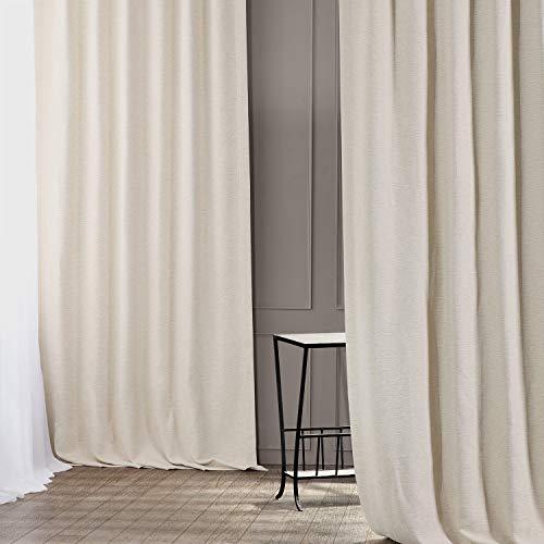 HPD Half Price Drapes BOCH-PL4201-96 Bellino Blackout Room Darkening Curtain (1 Panel), 50 X 96, Oat Cream