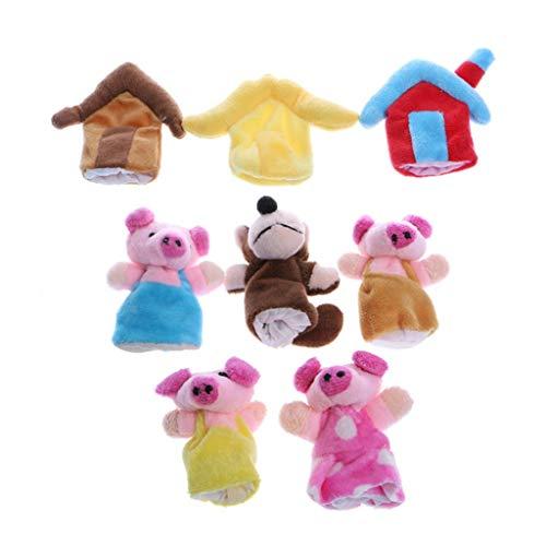 N-K PULABO Baby 3 marionetas de dedo para niños, juguete educativo de alta calidad, popular
