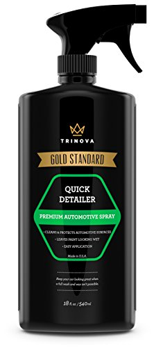 TriNova Quick Detailer - Mist and Wipe Off Dust, Fingerprints and More While Providing a Protective Seal Against Weather, contaminants. 18oz