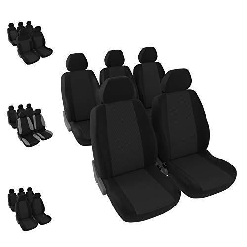 DBS 1012898 autostoelhoezen, 5 aparte stoelen, zwart, voor/achterkant, universeel, antislip, afwasbaar
