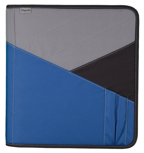 Mead Zipper Binder with Expanding File, 3 Ring Binder, 1-1/2