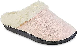 isotoner Womens Chenille Sage Hoodback Slippers