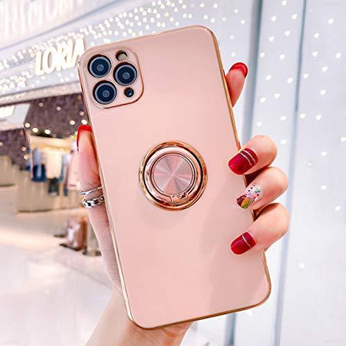 Adecuado para manzana 12pro MAX Electroplating Lateral recto Magnético Magnético Caja de teléfono móvil Apple 12 Shell Suave Todo Incluido Tapa protectora contra caída,6,iphone 12 Pro Max(6.7Inch)