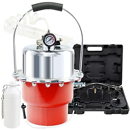 JoyFans Brake Bleeder Kit, Portable Air Pressure Pneumatic Brake Bleed System, Master Cylinder Brake & Clutch Fluid Bleeding Tool Set with Bleeder Machine, Collection Bottle and Adapters