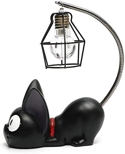 Lelesta Resina creativa Kiki Cat Animal Night Light, Ornamenti Decorazione per la casa Regalo Piccola lampada da vivaio per gatti Respirazione LED Night Lamp