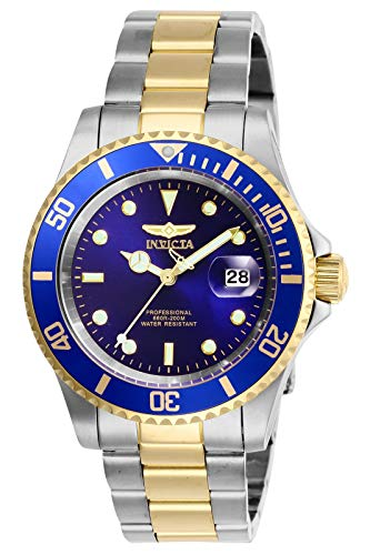 Invicta Men's Pro Diver 40mm Stainless Steel Quartz Watch, Two Tone/Blue (Model: 26972)
