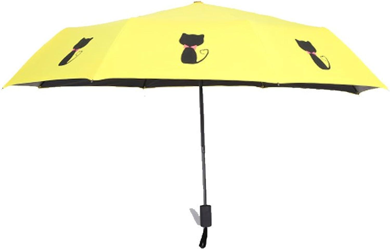 Umbrella Girl Fresh And Clean Umbrella Three Folding UV Sun Umbrella Vinyl UV Sunshade ( color   C )