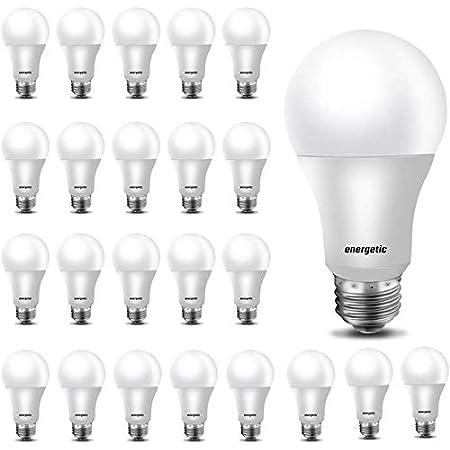 24 Pack A19 LED Light Bulb, 60 Watt Equivalent, Daylight 5000K, E26 Medium Base, Non-Dimmable LED Light Bulb, UL Listed
