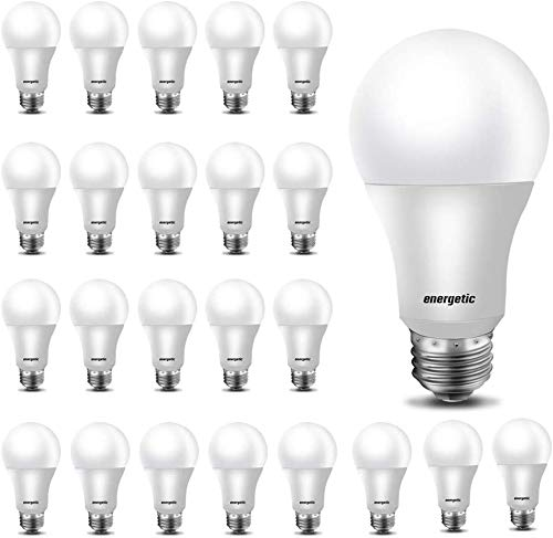 24 Pack A19 LED Light Bulb,60 Watt Equivalent, Daylight 5000K, E26 Medium Base, Non-Dimmable LED Light Bulb,UL Listed