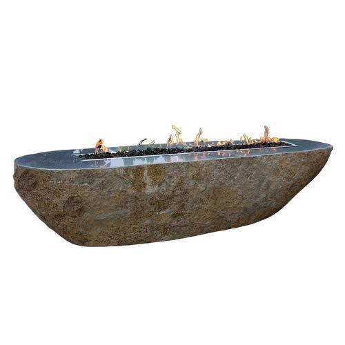 Kaminlicht Gas-Feuertisch Bethlehem aus Basalt Naturstein