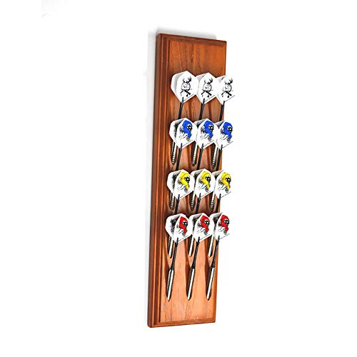 Gallop Chic Holz Dartpfeile Display Stand -Dart Pfeile-Anzeigen-Lagerregal. Dartständer bieten Platz für 12 Dart Pfeile (4 Set)(Soft-Dartpfeile/Steel-Dartpfeile )