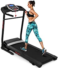 ANCHEER Folding Treadmill with Smartphone Sports APP,3 Level Manual Incline,2.25HP Motor Allows for 0.5-7.5 MPH,12 Preset Programs,Easy Assembly Exercise Machine for Home Gym Office