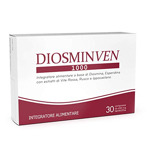 Diosminven 1000-30 Tablets - DIOSMIN+Hesperidin (500mg) - Food Supplement for The Well-Being of The microcirculation - Heavy Legs - Piles