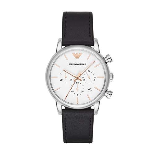 Emporio Armani Herren Chronograph Quarz Uhr mit Leder Armband AR2075
