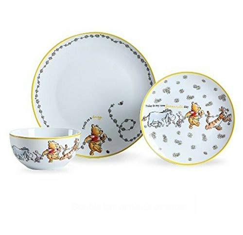 Disney Winnie The Pooh - Vajilla de porcelana (12 piezas)