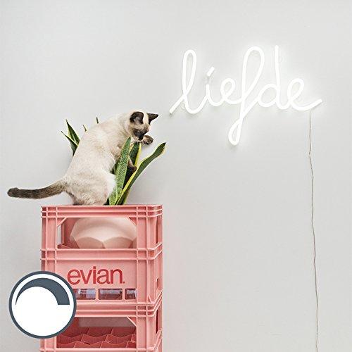 QAZQA Design Wandlamp wit met afstandsbediening incl. LED - Neon Liefde Kunststof Overig LED inbegrepen Max. 1 x 23.2 Watt
