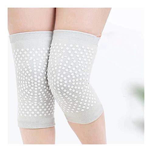 JINchao- knäskydd, 2 st knästag varm, självuppvärmande stöd knäskydd, för artros ledsmärta, skyddar knäet (färg: Ljusgrå, storlek: XL)