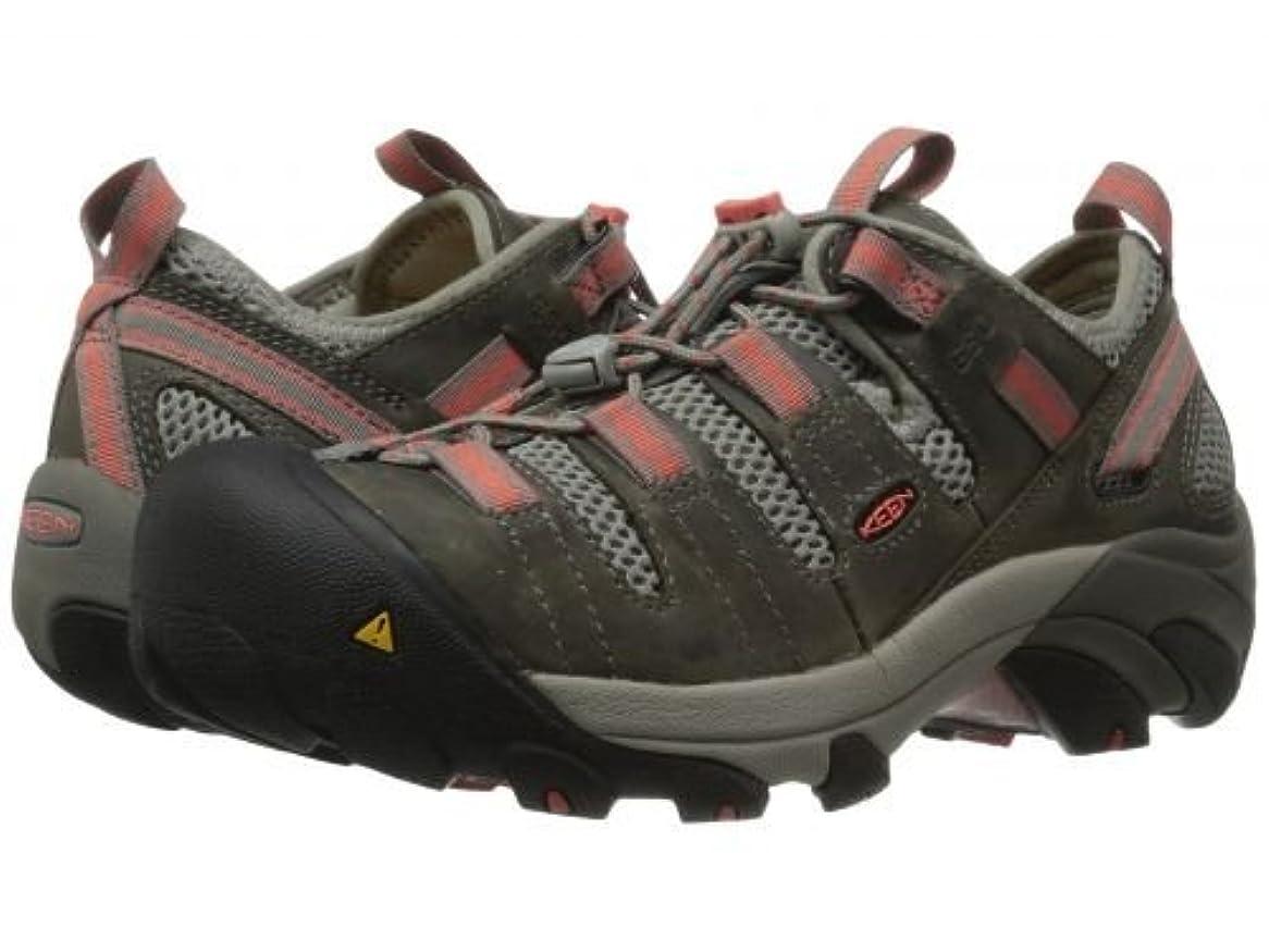 代数的光警報Keen Utility(キーン) レディース 女性用 シューズ 靴 スニーカー 運動靴 Atlanta Cool ESD Soft Toe - Gargoyle/Hot Coral [並行輸入品]