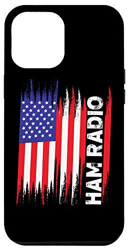 iPhone 12 Pro Max USA American Flag Amateur Ham Radio Gift Case