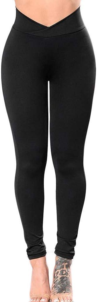 Hotkey Yoga Pants for Women, Tummy Control Yoga Pants Workout Activewear No See-Through Legging Jogger Pants