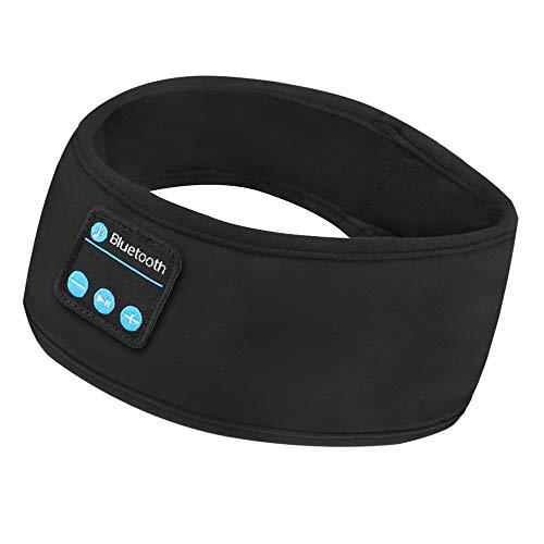 Guiseapue Auriculares para Dormir Bluetooth V5.0 Deportes Diadema, Deportiva Banda Auriculares con HD Estéreo Altavoces,Orejeras Antiruido para Dormir de Lado, Deportes, Viajes Aéreos