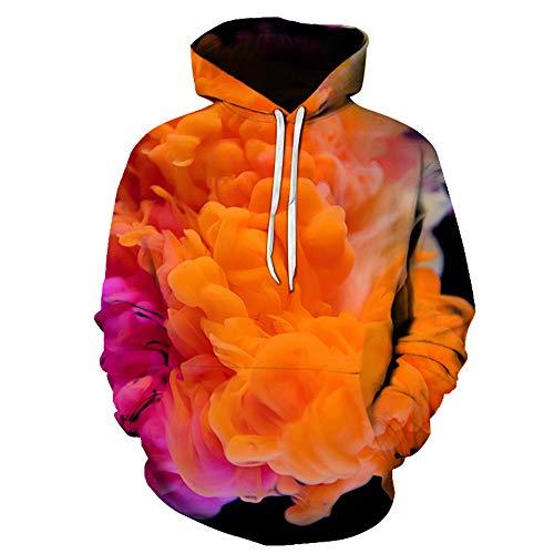 x8jdieu3 Sudadera de otoño e Invierno suéter Humo Camisa de impresión Digital 3D con Amantes de Camisa con Capucha con Capucha Uniforme de béisbol de Primavera y otoño