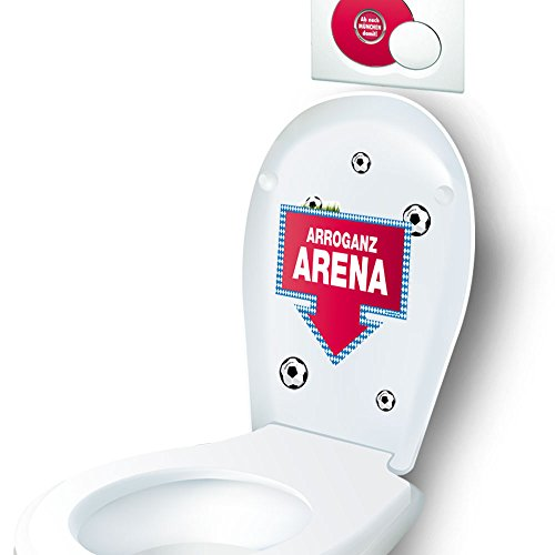 Pottpost nach Bayern-Set | WC-Deckel-Design-Set Macht Spaß bei jeder Sitzung | Für alle Borrussia Dortmund-, Schalke-, Fußball-Fans & Gäste | WC-Deckel - Klodeckel - Badezimmerdeko - Gäste WC