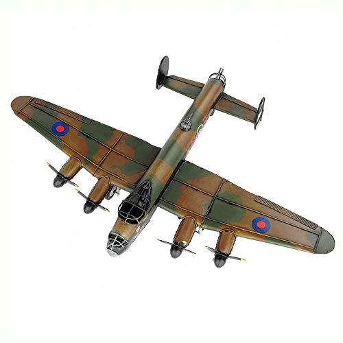 WMMDM Flugzeug-Modell-Retro Eisen Dekoration, WWII Lancaster-Bomber, Old Crafts Ornamente Geschenke