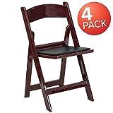 Flash Furniture 4 Pk. HERCULES Series 1000 lb. Capacity Red...