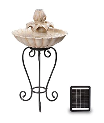 Small Solar Powered Water Feature Classic Style Two Tier Fountain PC503