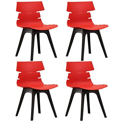 QRFDIAN Ensemble de 4 chaises de salle à manger en plastique  Chaise de bureau  Chaises de salle à manger design moderne  Chaises de salle à manger  Bureau cuisine salon chambre chaise Tables Nest