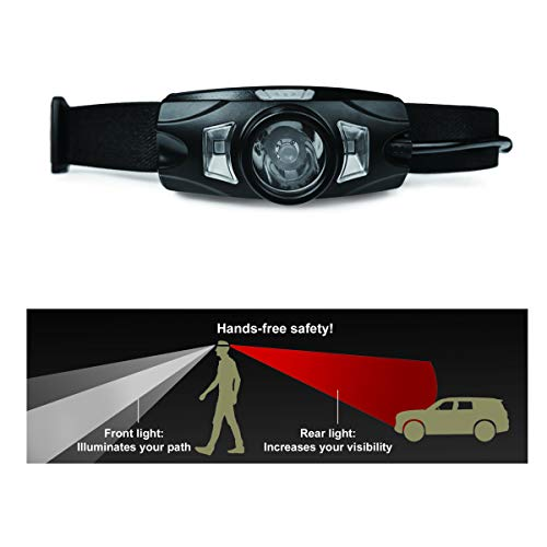 WALKBRIGHT The Ideal headlamp for Walking at Night | Red Tail Light for 360 Visibility | Very Bright | Stay Safe!