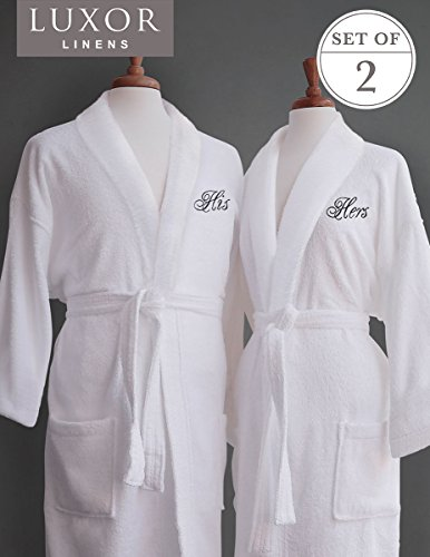 His and Hers Egyptian Cotton Robes