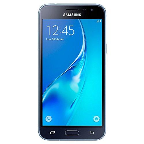 Samsung Galaxy J3, Smartphone libre (5'', 1.5GB RAM, 8GB, 8MP) [Versión española: incluye Samsung Pay, actualizaciones de software y de Bixby, compatibilidad de redes], color Negro