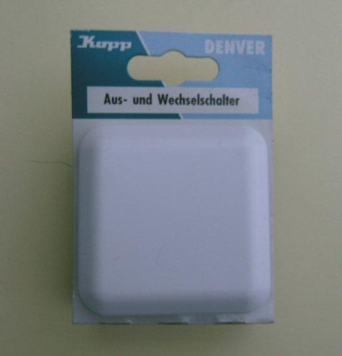 Kopp Aus- und Wechselschalter, Unterputz, 10 A / 250 V, Serie Denver, weiß, Herstellernr.: 6836.1308.1
