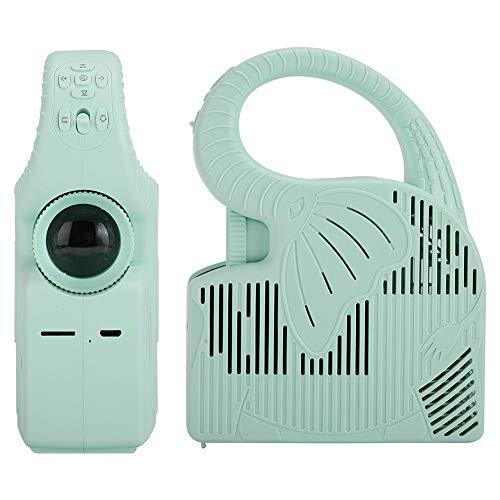 Zwindy Scheda di Memoria Verde di Supporto, Batteria Ricaricabile Integrata agli ioni di Litio 2000mAh, videoproiettore, Mini proiettore, per la casa