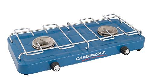 Campingaz Base Camp, kompakter Campingkocher, vielfältige Kochmöglichkeiten mit 2 Platten, 2 Flammen Gaskocher mit 2 x 1600 Watt Leistung, Gaskocher für Camping oder Festivals