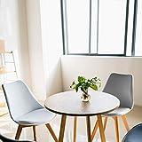 Bianco, Nero, Grigio LOVEMYHOUSE Sedie da Pranzo Tulip Set di 4 Gambe in Legno massello Naturale Sedia da Salotto Moderna Imbottita per Sala da Pranzo Sala da Pranzo Cucina Whitey