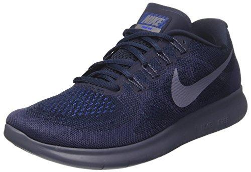 Nike Herren Free RN 2017 Laufschuhe, Blau (Obsidian/Light Carbon/neutral Indigo/Racer Blue 408), 40.5 EU