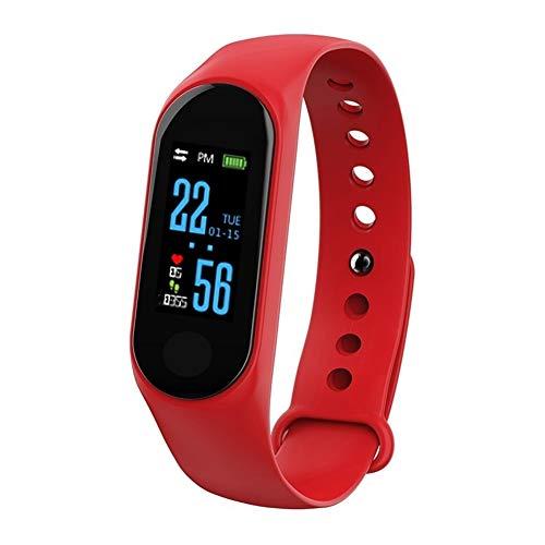 Pulsera de fitness resistente al agua IP68 monitor de fitness pantalla a color monitor de actividad reloj inteligente pulsómetro podómetro para mujer hombre llamada SMS para iPhone y Android