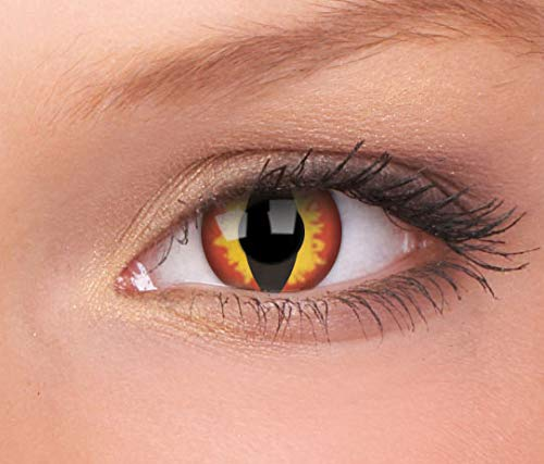Halloween Kontaktlinse Lustige Linse Dragon Eyes Jährliche Einweg 14 mm stärke 0.00 von ColourVUE