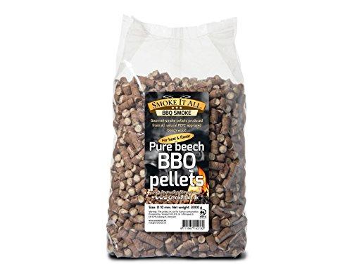 Smoke It All, pellet per barbecue, in legno di faggio, 3,0 kg, per griglia o  forno affumicatore, 63200