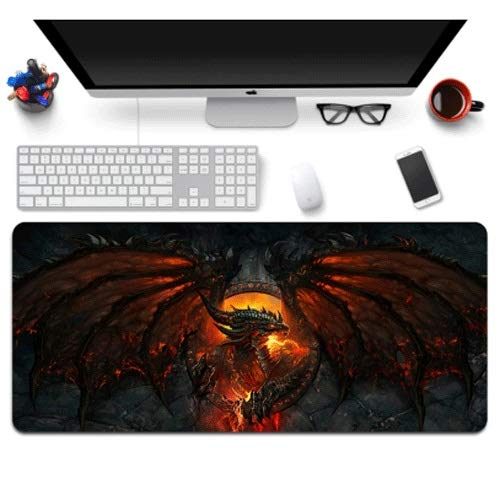 Xfwj EeeeeeeeeeeDeathwing WOW Keyboard Pad Game Competition Mouse Pad WOW Mouse Pad Lovers Collection Computer muis en het toetsenbord Pad Professional 2019 Laatste (Size : 800 * 300)