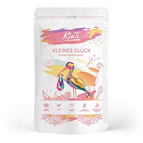 Kiati® Kleines Glück - Mezcla de Té de Hierbas Sueltas para Mujeres con Té del Manto de Dama - Té de Hojas de Frambuesa - Té de Pimienta de los Monjes - Hierba de Milenrama / 60g
