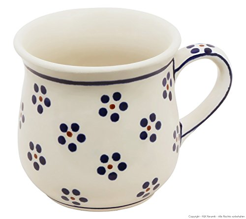 Original Bunzlauer Keramik Kaffeebecher V=0,25 Liter im Dekor 1