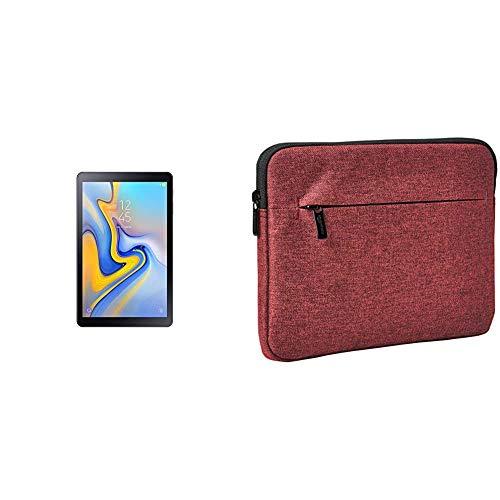 Samsung SM de t590nzka DBT Galaxy Tab a 10.5Wi-Fi–Tablet PC (Snapdragon 450, 3GB RAM, Android 8.1) Negro Negro + Amazon Basics Funda para Tablet de con Bolsillo Frontal, 25,4 cm, Granate