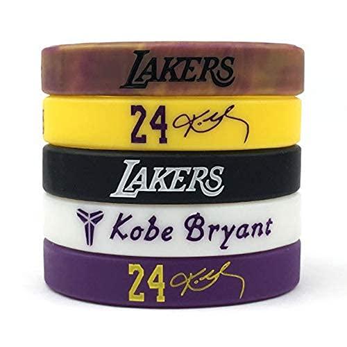 Basketball Authentic Inspirational Signature Motivation Wristbands Sport Silicone Bracelet (5 Pack)