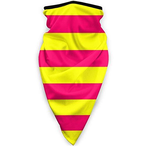 MJDIY 12-in-1 Headwear-tent voor horizontale Kabana, lichtgevend, neon-roze en geel, winddicht, elegant, voor kamperen, klimmen, gym